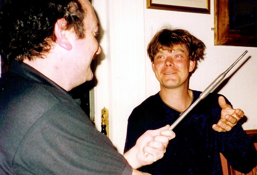 Gordon with Allan McDonald