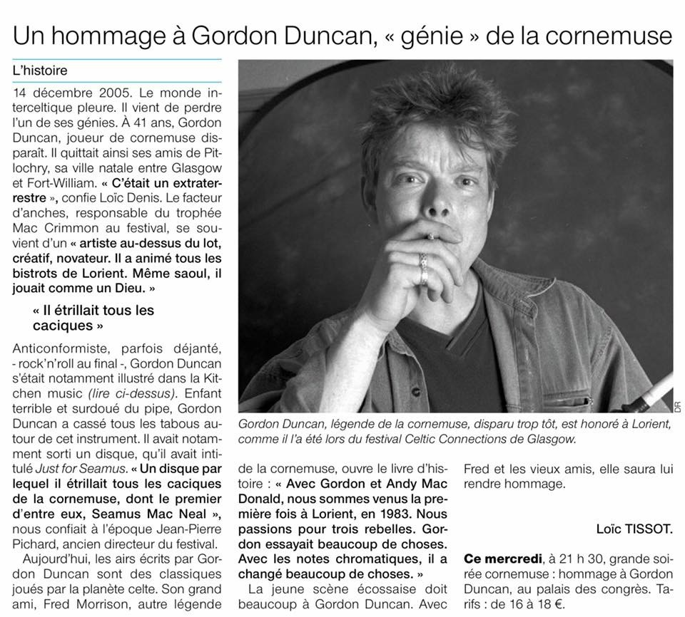 Review of Lorient event (in French)