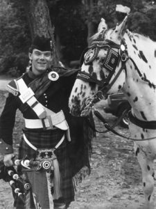 Gordon with horse in Massachusetts