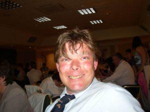 A photo of Gordon at a family wedding