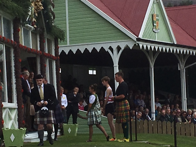 After getting prize from Queen at Braemar