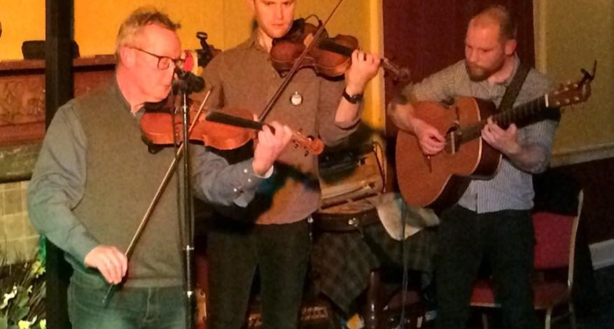 Finn, Sean and Pete Clark in action at the Royal Dunkeld Hotel on 2 February 2018