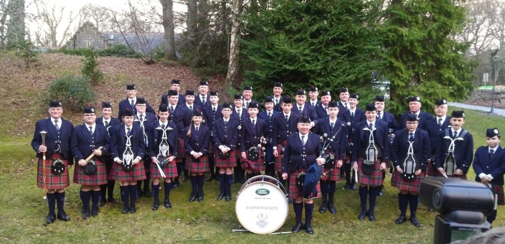 Photo of the Vale of Atholl Pipe Band