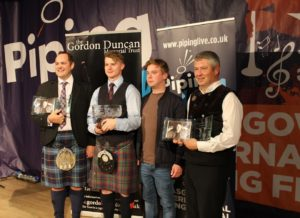 The winners of the 2019 competition with Gordon Duncan Jr.
